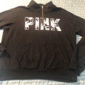 VS PINK 1/4 zip sweatshirt